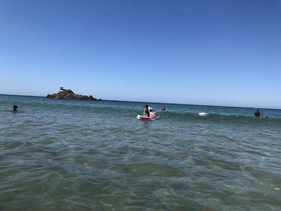 野北でサーフィン初体験その2
